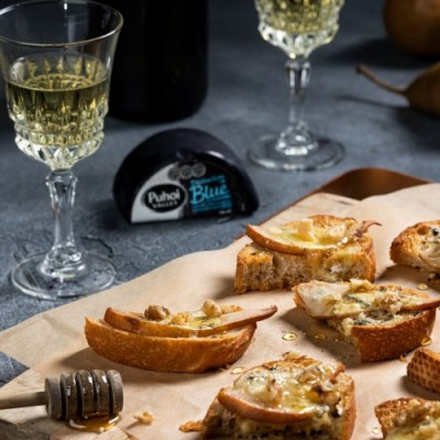 Pear Blue Cheese Crostini