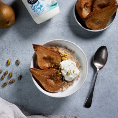 Spiced Porridge with Caramalised Pear