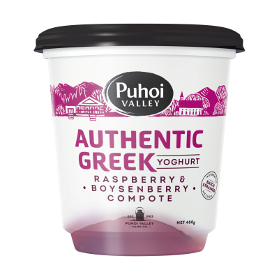 Puhoi Valley Greek Yoghurt Raspberry & Boysenberry Compote