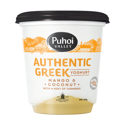Puhoi Valley Greek Yoghurt Mango & Coconut