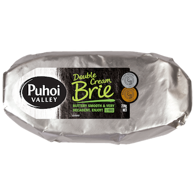 puhoi valley white double cream brie 400px