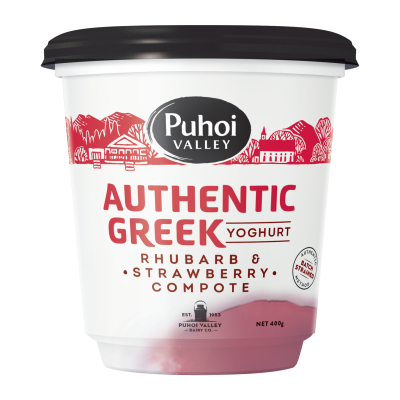 Puhoi Valley Greek Yoghurt Rhubarb & Strawberry Compote