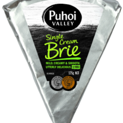 puhoi valley white single cream brie 125