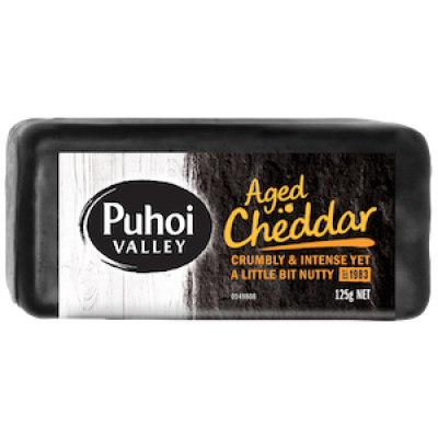 puhoi valley hard aged cheddar 125g 400px