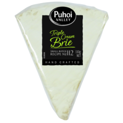 puhoi valley white triple cream brie 110